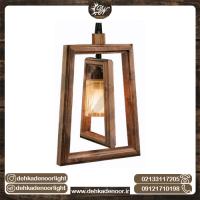 چراغ آویز چوبی تک شعله وینکا دو قاب